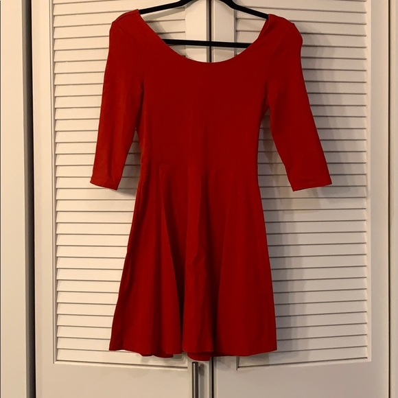 Express Dresses & Skirts - Express red A-line dress with quarter sleeves